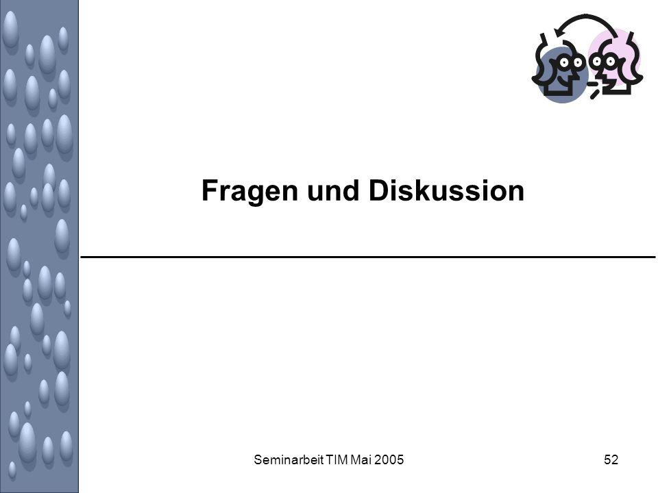 Seminarbeit TIM Mai 200552 Fragen und Diskussion