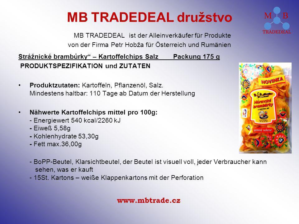 Strážnické brambůrky – Kartoffelchips Salz Packung 175 g PRODUKTSPEZIFIKATION und ZUTATEN Produktzutaten: Kartoffeln, Pflanzenöl, Salz. Mindestens hal