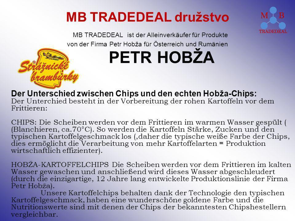 PETR HOBŽA Der Unterschied zwischen Chips und den echten Hobža-Chips: Der Unterchied besteht in der Vorbereitung der rohen Kartoffeln vor dem Frittier