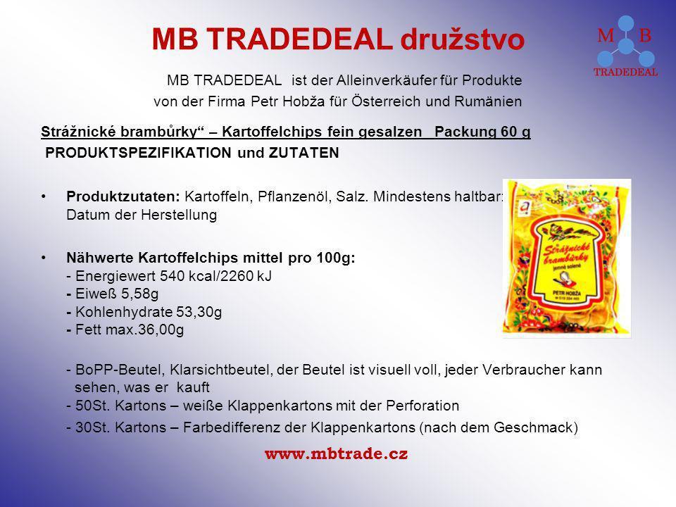 Strážnické brambůrky – Kartoffelchips fein gesalzen Packung 60 g PRODUKTSPEZIFIKATION und ZUTATEN Produktzutaten: Kartoffeln, Pflanzenöl, Salz.
