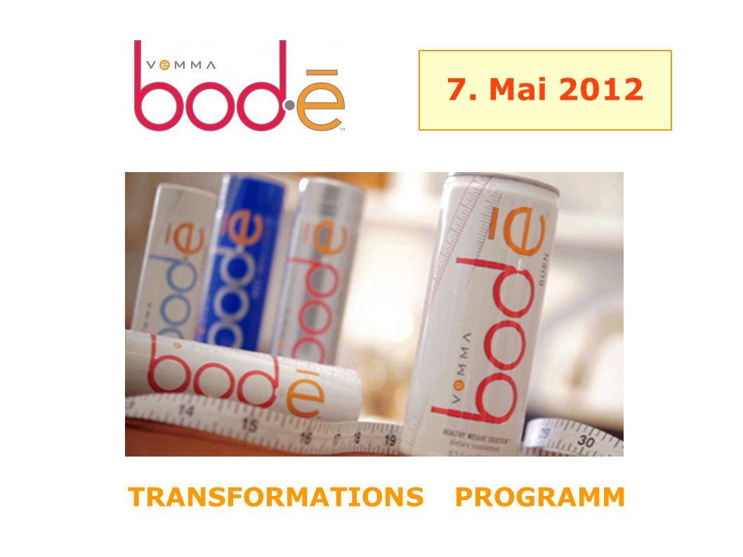 TRANSFORMATIONS PROGRAMM 7. Mai 2012