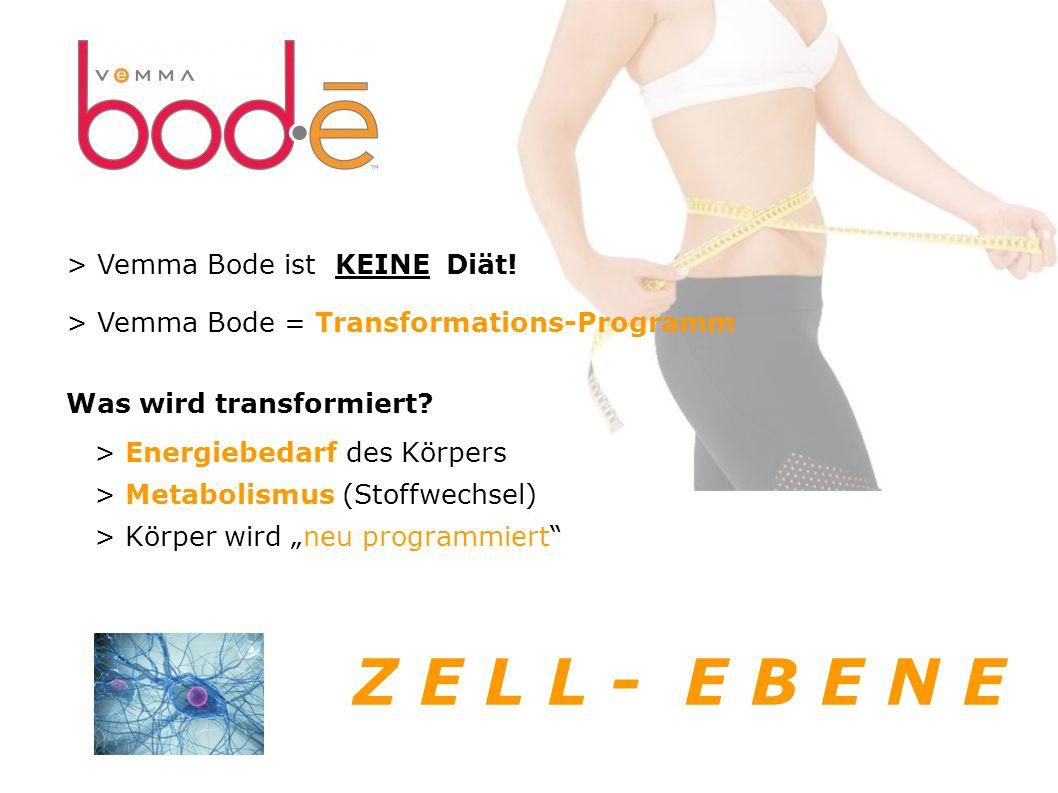 > Vemma Bode ist KEINE Diät.> Vemma Bode = Transformations-Programm Was wird transformiert.