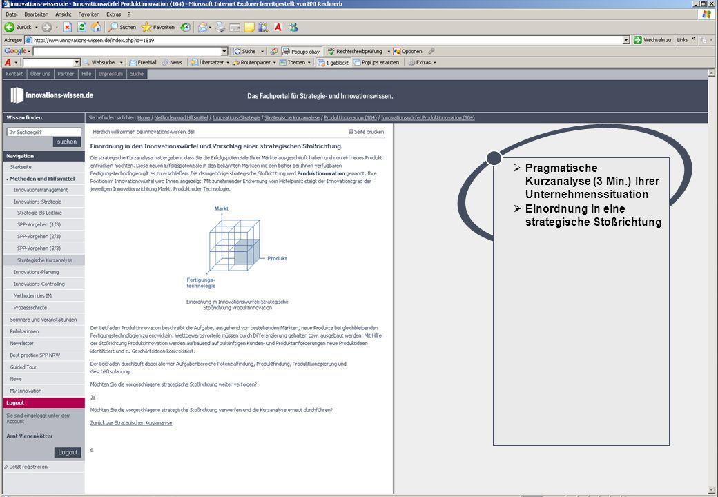 24 © Prof. Dr.-Ing. J. Gausemeier, Heinz Nixdorf Institut, Universität Paderborn Pragmatische Kurzanalyse (3 Min.) Ihrer Unternehmenssituation Einordn