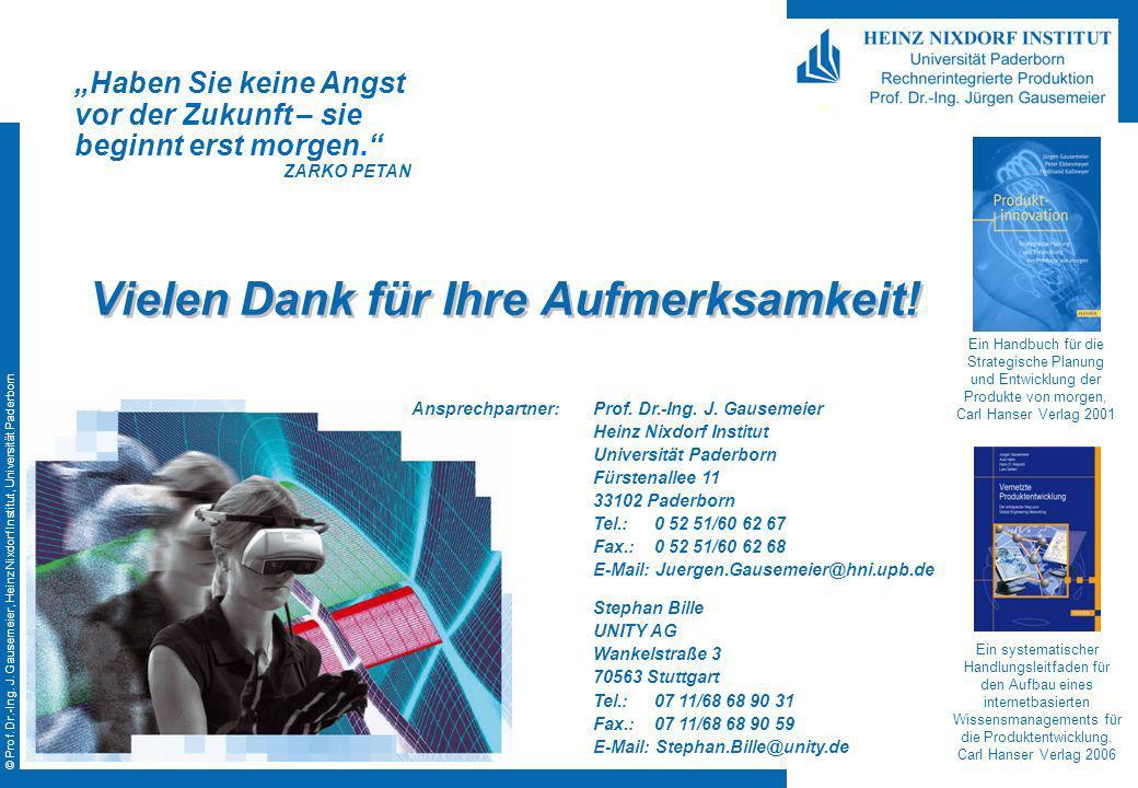 © Prof. Dr.-Ing. J. Gausemeier, Heinz Nixdorf Institut, Universität Paderborn Ein Handbuch für die Strategische Planung und Entwicklung der Produkte v