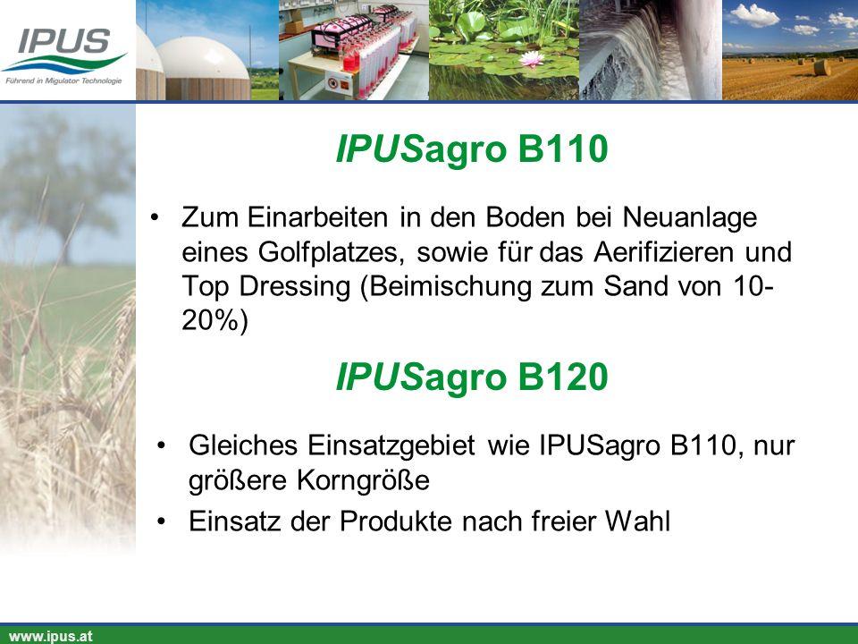 IPUS – für Ihren Erfolg und unsere Umwelt www.ipus.at Zum Einarbeiten in den Boden bei Neuanlage eines Golfplatzes, sowie für das Aerifizieren und Top