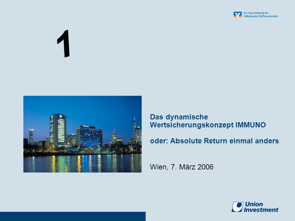 1 Wien, 7. März 2006 Das dynamische Wertsicherungskonzept IMMUNO oder: Absolute Return einmal anders