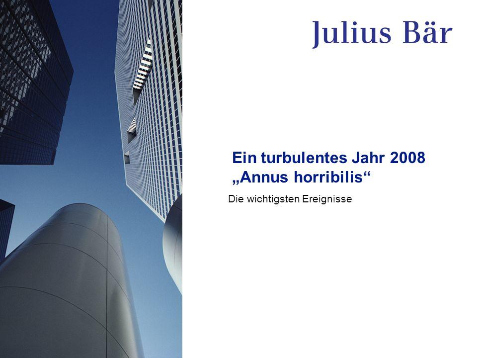 Ein turbulentes Jahr 2008 Annus horribilis Die wichtigsten Ereignisse
