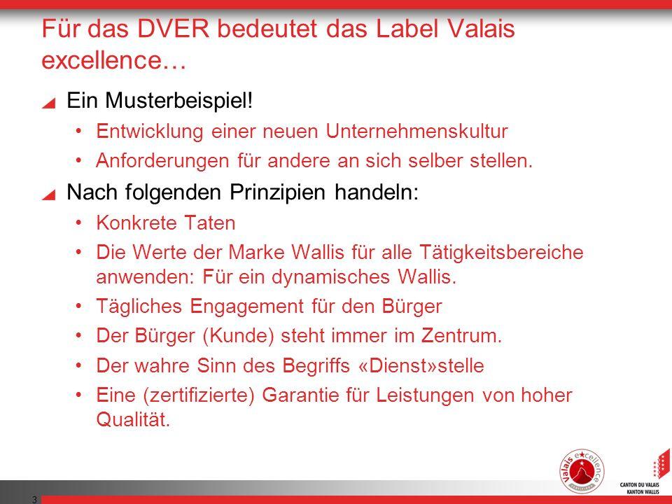 3 Für das DVER bedeutet das Label Valais excellence… Ein Musterbeispiel.