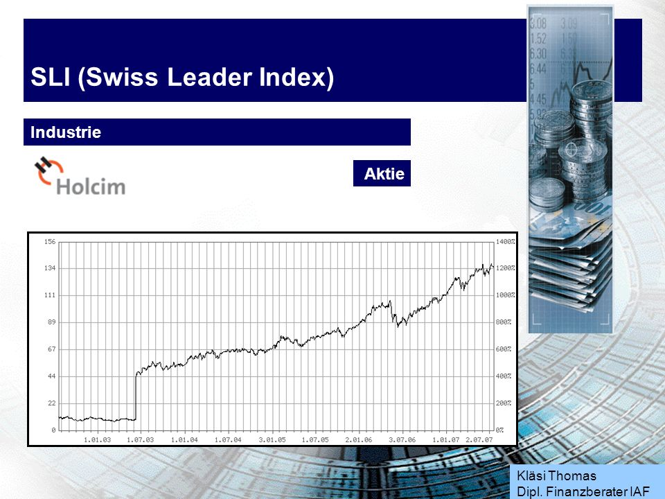 Kläsi Thomas Dipl. Finanzberater IAF SLI (Swiss Leader Index) Industrie Aktie