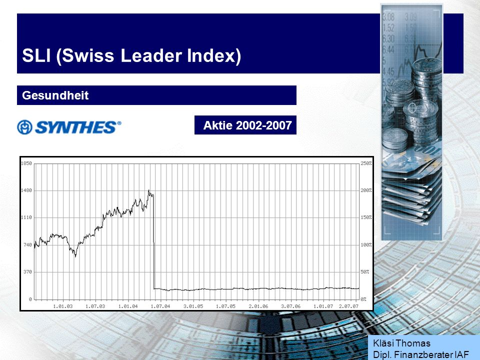 Kläsi Thomas Dipl. Finanzberater IAF SLI (Swiss Leader Index) Gesundheit Aktie