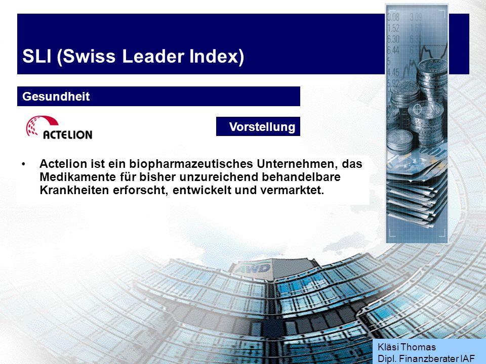 Kläsi Thomas Dipl. Finanzberater IAF SLI (Swiss Leader Index) Industrie Aktie