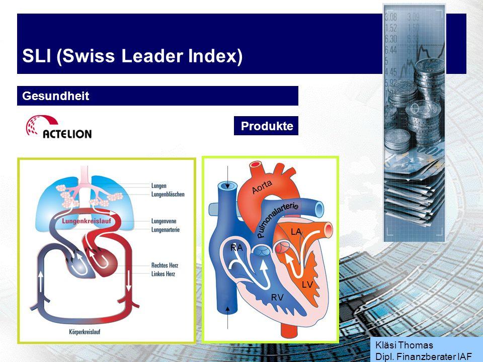 Kläsi Thomas Dipl. Finanzberater IAF SLI (Swiss Leader Index) Gesundheit Produkte