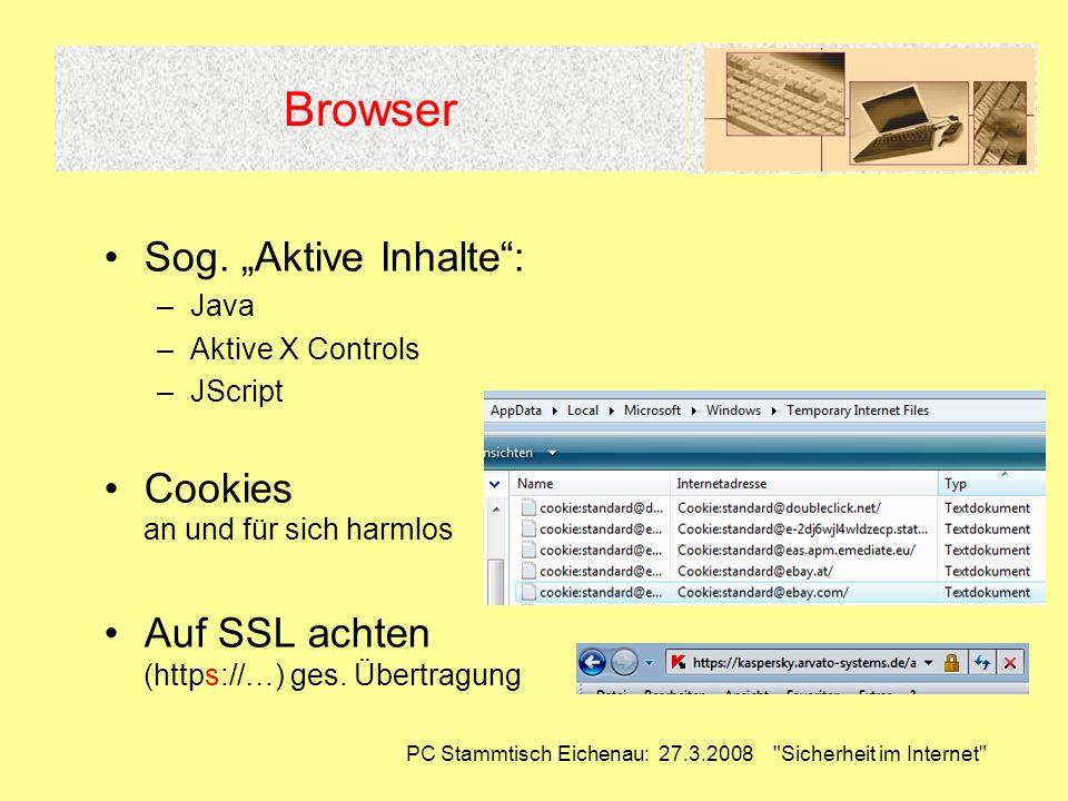 PC Stammtisch Eichenau: 27.3.2008