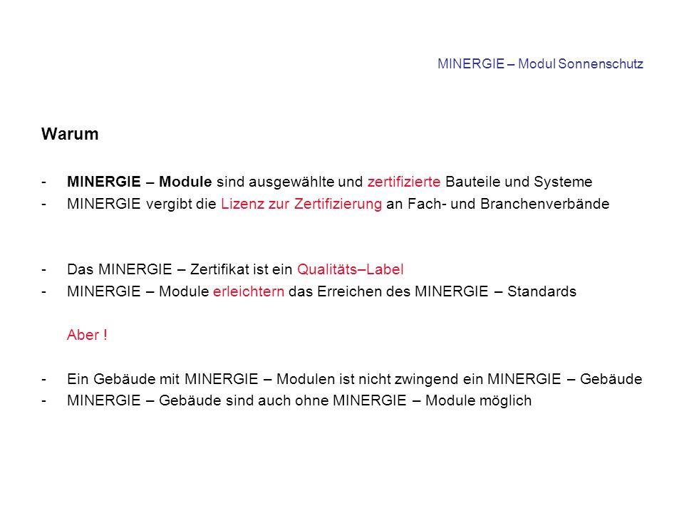 Montagehinweise für Systemanbieter Auszug aus dem MINERGIE – Reglement zusätzliche Isolation - selbsttragende Systeme bevorzugt