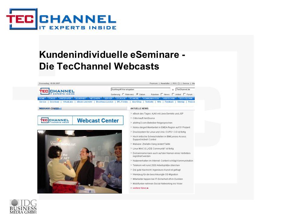 Warum Webcasts.