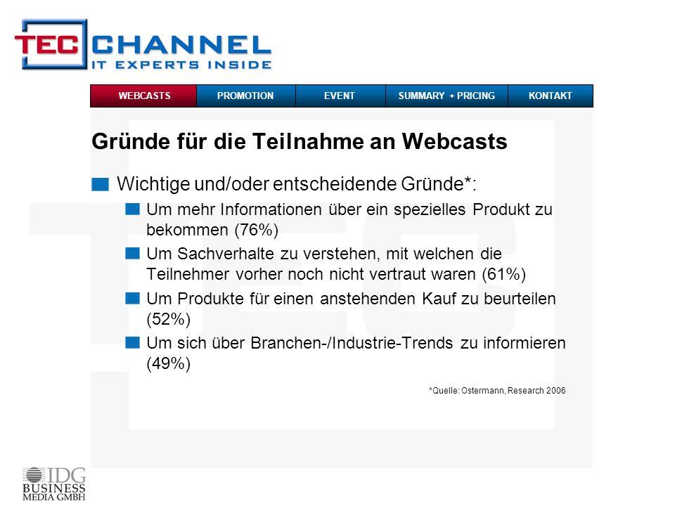 Promotion - Pre-Event-Marketing HTML-Mailing an die TecChannel Event-Datenbank: 3x an 240 Tsd.