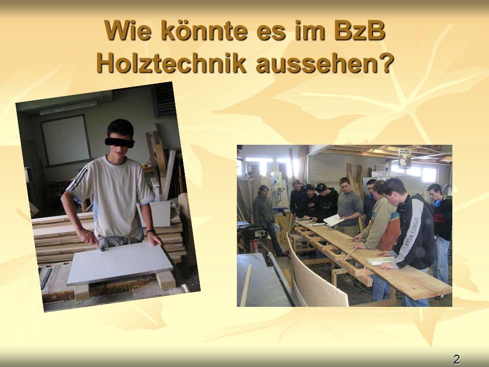 2 Wie könnte es im BzB Holztechnik aussehen?