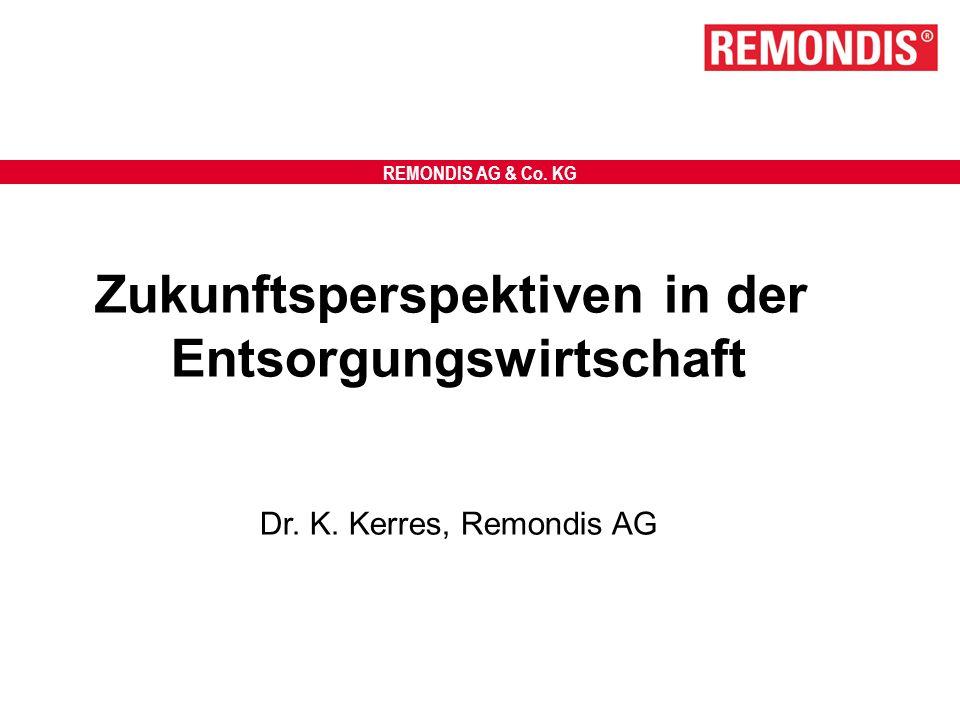 REMONDIS AG & Co. KG Zukunftsperspektiven in der Entsorgungswirtschaft Dr. K. Kerres, Remondis AG