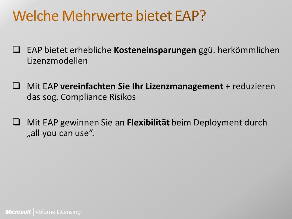EAP bietet erhebliche Kosteneinsparungen ggü.