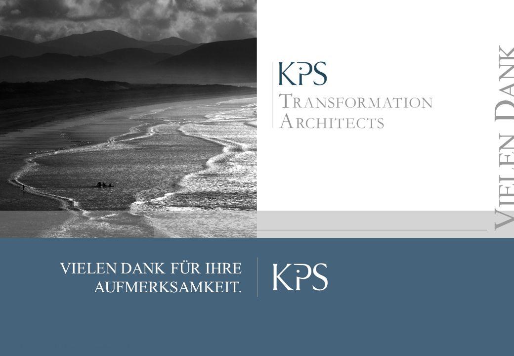 Seite KPS Transformation Architects VIELEN DANK FÜR IHRE AUFMERKSAMKEIT. V IELEN D ANK Copyright KPS, 2013 | Hauptversammlung 2013
