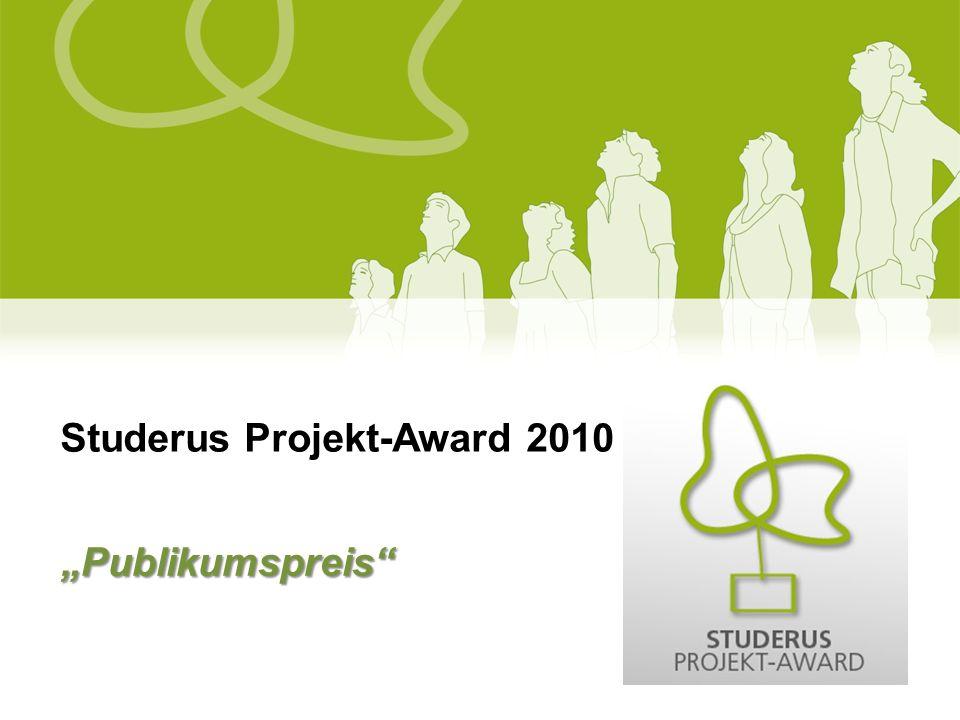 Studerus Projekt-Award 2010 Publikumspreis