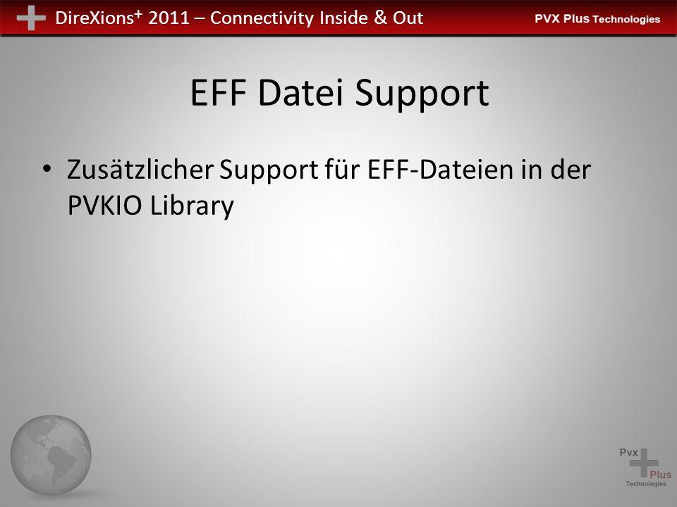 DireXions + 2011 – Connectivity Inside & Out EFF Datei Support Zusätzlicher Support für EFF-Dateien in der PVKIO Library