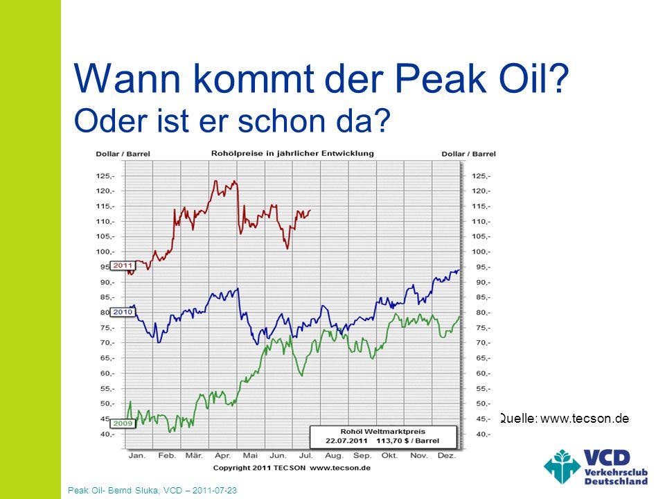 Peak Oil- Bernd Sluka, VCD – 2011-07-23 Vielen Dank für eure Aufmerksamkeit!