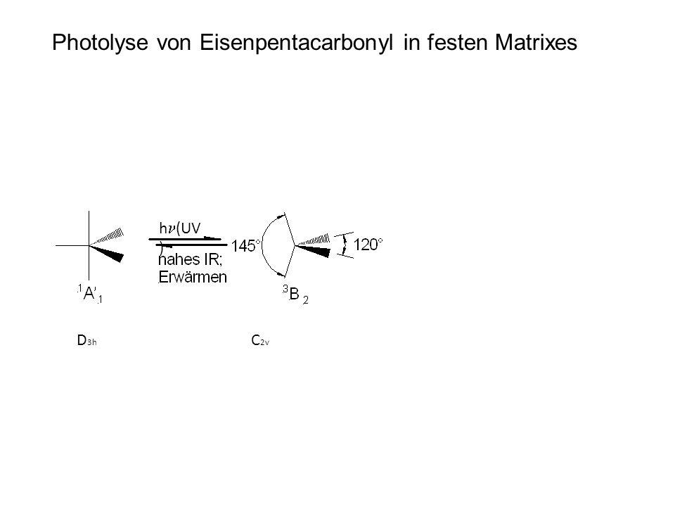 Photolyse von Eisenpentacarbonyl in festen Matrixes D 3h C 2v h (UV )
