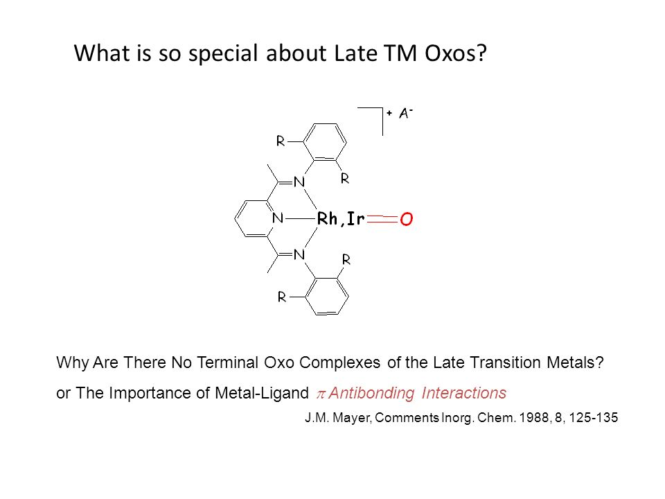 What is so special about Late TM Oxos? Why Are There No Terminal Oxo Complexes of the Late Transition Metals? or The Importance of Metal-Ligand Antibo