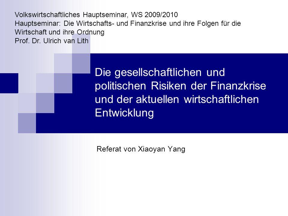 1 Gliederung 1.Einleitung 2. Allgemeine gesellschaftliche und politische Ziele und Risiken 3.