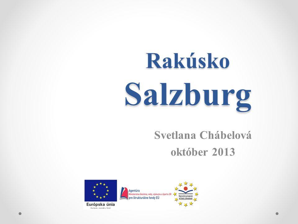 Rakúsko Salzburg Svetlana Chábelová október 2013