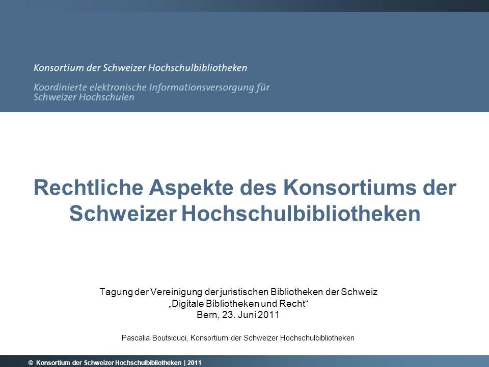 © Konsortium der Schweizer Hochschulbibliotheken | 2011 Einsparungen zw.