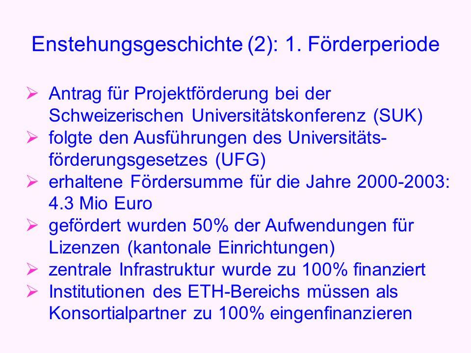 in 2003: Verlängerung der Förderperiode um zwei Jahre (2004-05) die grundlegenden Förderbedingungen blieben unverändert Entstehungsgeschichte (2): 2.