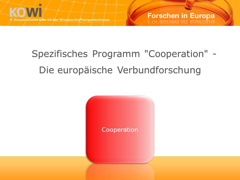 Die europäische Verbundforschung Spezifisches Programm Cooperation -