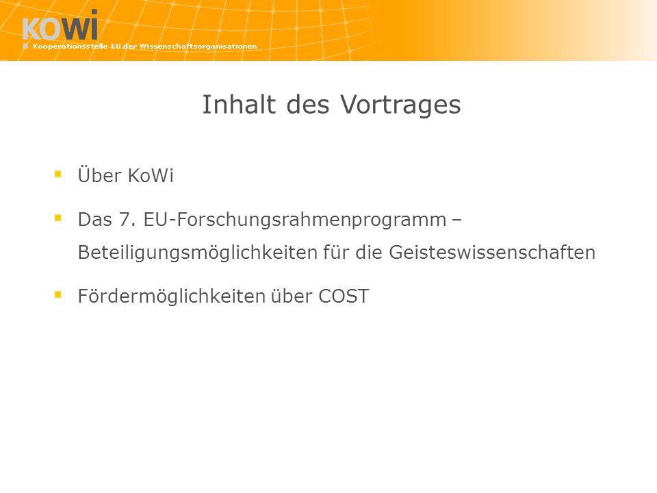 Inhalt des Vortrages Über KoWi Das 7.