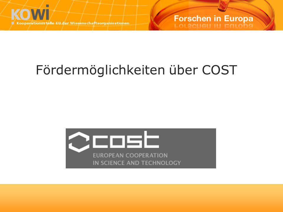Fördermöglichkeiten über COST