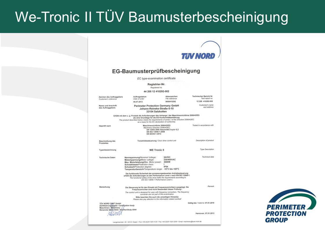 We-Tronic II TÜV Baumusterbescheinigung 6