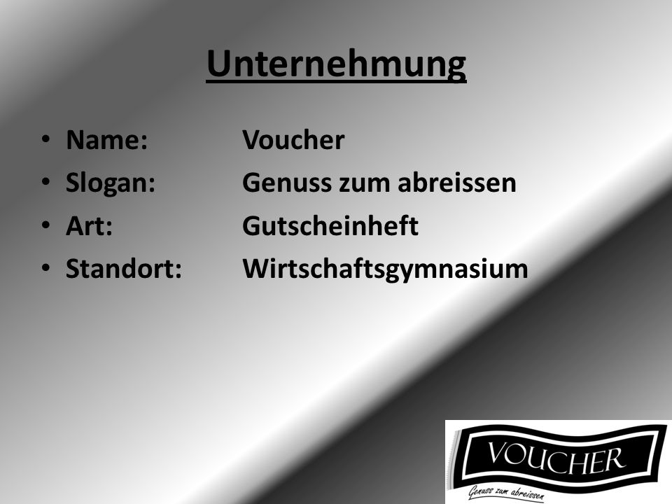 Organigramm Emanuel Born (CEO) Damian Döbelin (Marketing) Anna Ostermeyer (Produkt/Einkauf) Domenic Duwe (Finanzen) Seraina Auden (Vize-CEO)