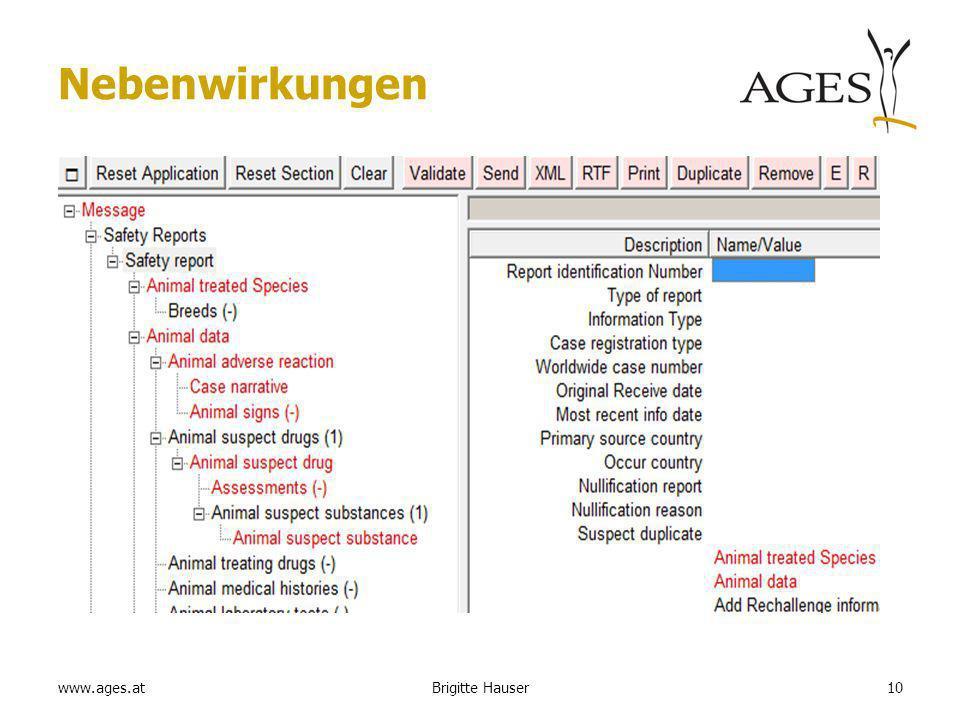 www.ages.at Nebenwirkungen 10Brigitte Hauser