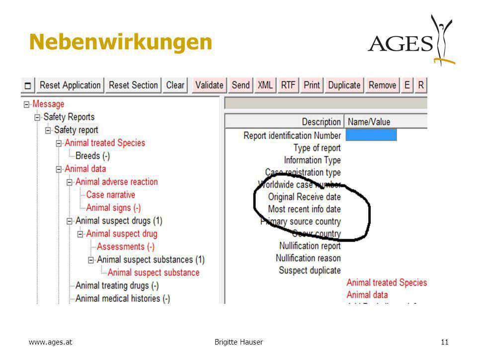 www.ages.at Nebenwirkungen 11Brigitte Hauser