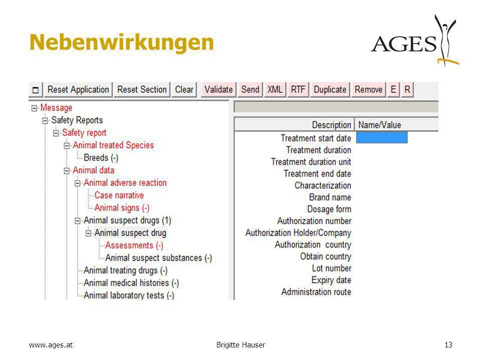 www.ages.at Nebenwirkungen 13Brigitte Hauser