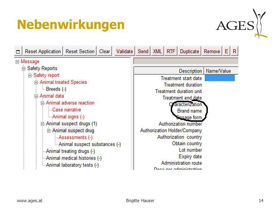 www.ages.at Nebenwirkungen 14Brigitte Hauser