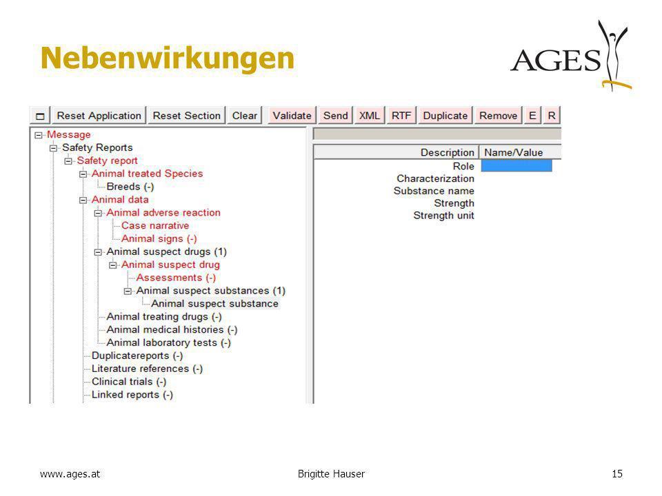 www.ages.at Nebenwirkungen 15Brigitte Hauser