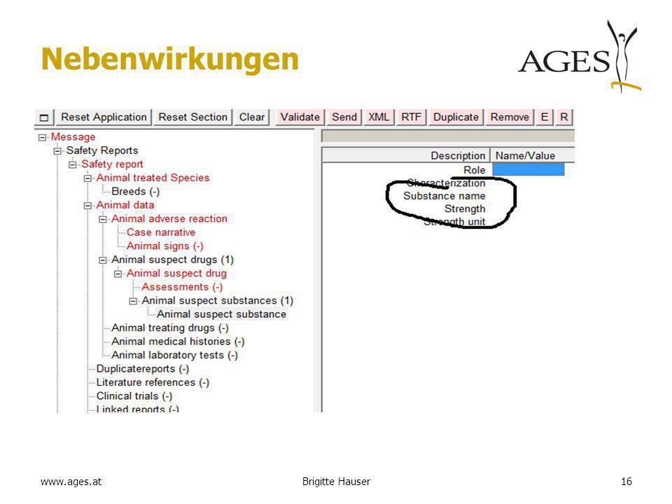 www.ages.at Nebenwirkungen 16Brigitte Hauser