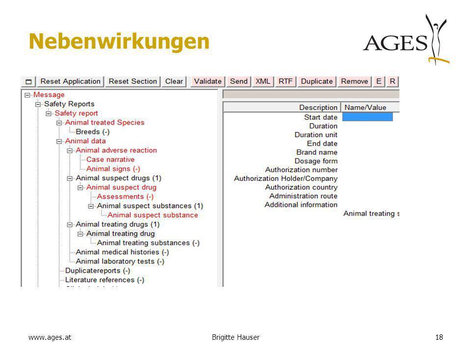 www.ages.at Nebenwirkungen 18Brigitte Hauser