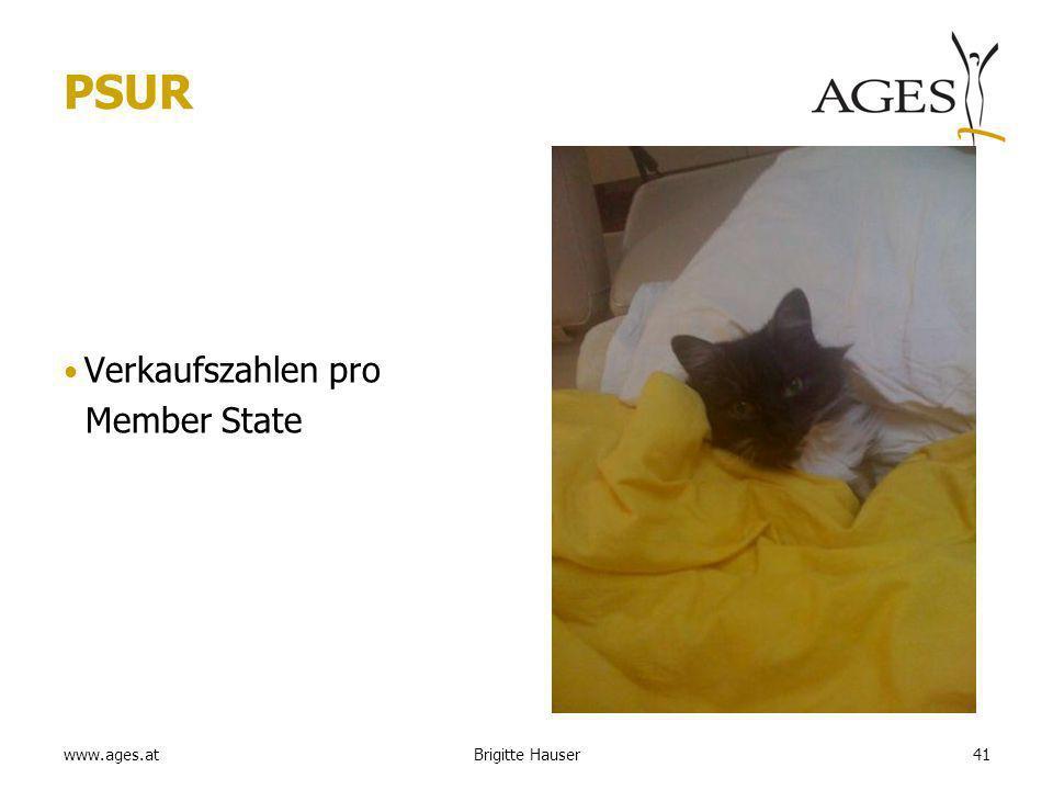 www.ages.at PSUR Verkaufszahlen pro Member State 41Brigitte Hauser