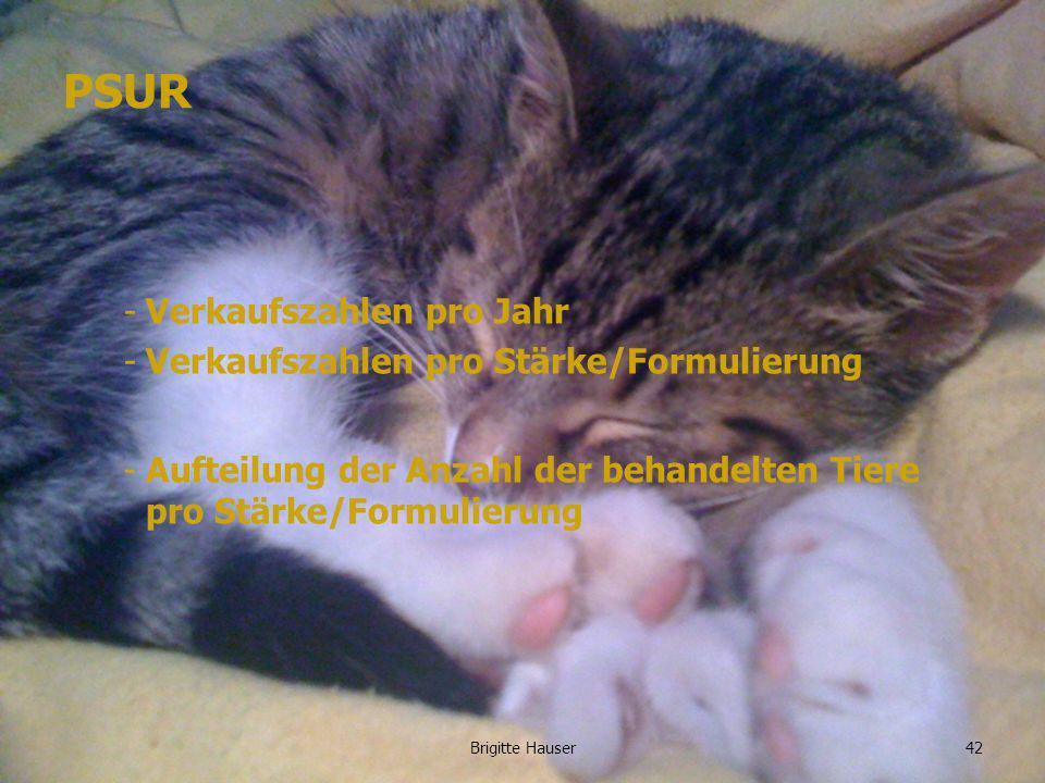 www.ages.at PSUR -Verkaufszahlen pro Jahr -Verkaufszahlen pro Stärke/Formulierung -Aufteilung der Anzahl der behandelten Tiere pro Stärke/Formulierung