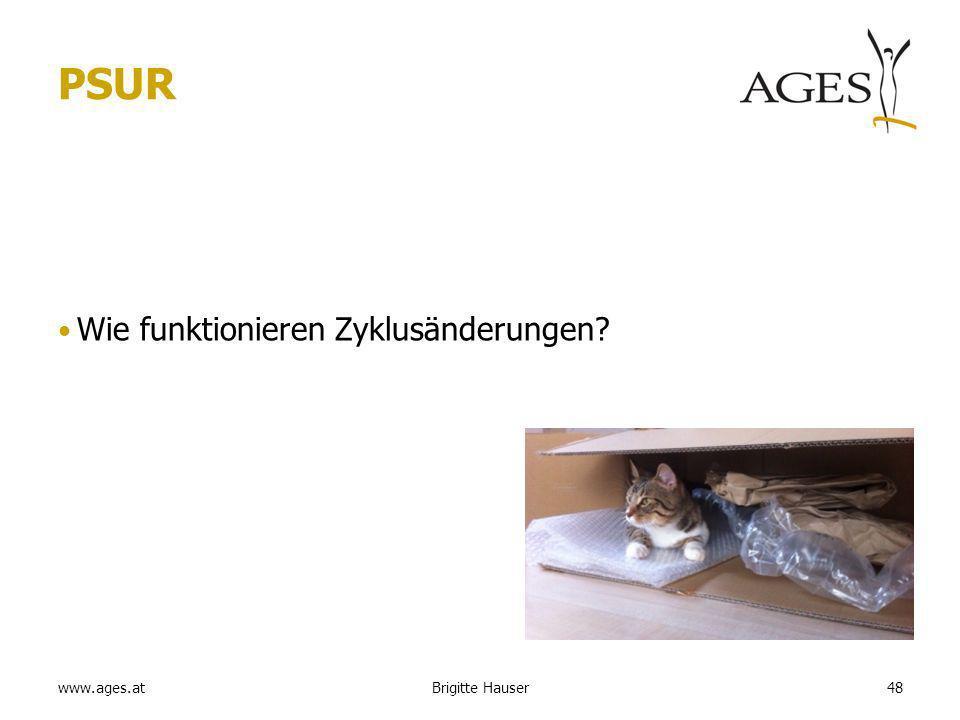www.ages.at PSUR Wie funktionieren Zyklusänderungen 48Brigitte Hauser