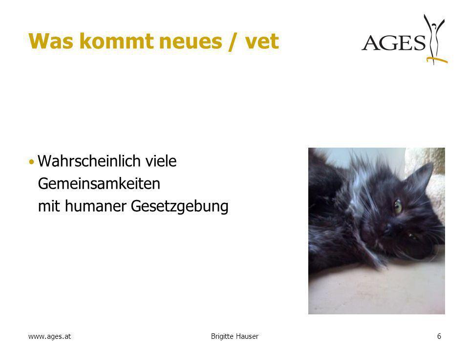 www.ages.at Nebenwirkungen Meldung von lack of expected efficacy –Fällen, wenn das Produkt off label/non recommended use in the non target species verwendet wurde.