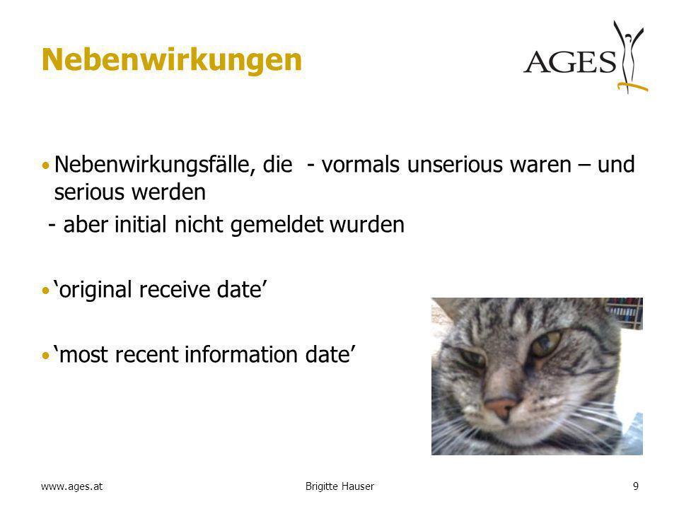 www.ages.at PSUR Verkaufszahlen für -Ampullen -Euterinjektoren etc. Brigitte Hauser40